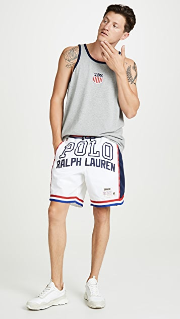 Polo Ralph Lauren Chariots Crest Logo Tank Top