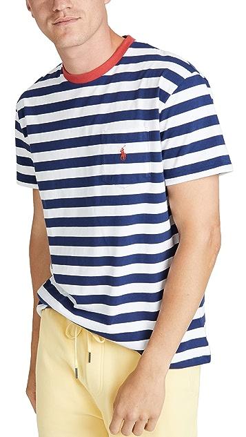 Polo Ralph Lauren Short Sleeve Striped Pocket Tee