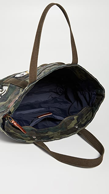 Polo Ralph Lauren Tiger Patchwork Camo Canvas Tote