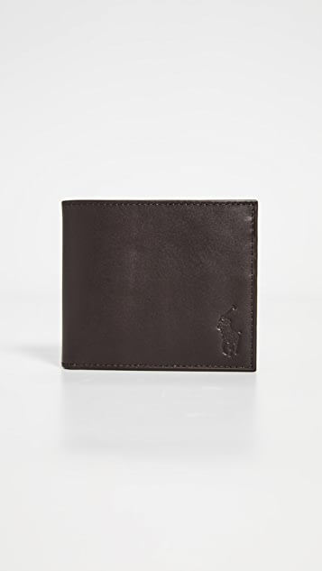 Polo Ralph Lauren Classic Leather Billfold Wallet