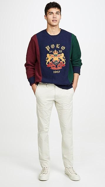 Polo Ralph Lauren Colorblocked Magic Fleece Crew Neck Sweatshirt