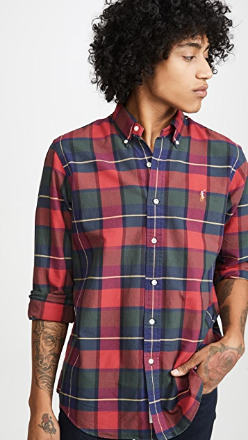 Polo Ralph Lauren Plaid Oxford Button Down Shirt