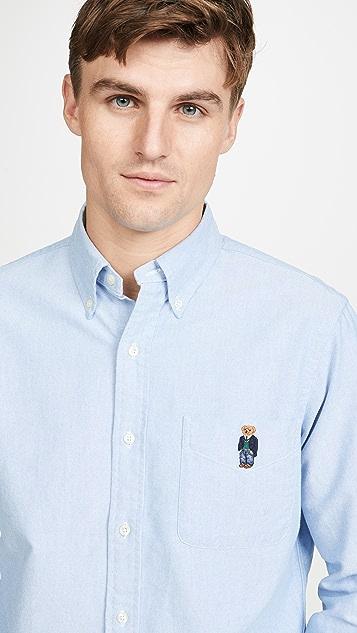 Polo Ralph Lauren Polo Bear Embroidered Oxford Button Down Shirt