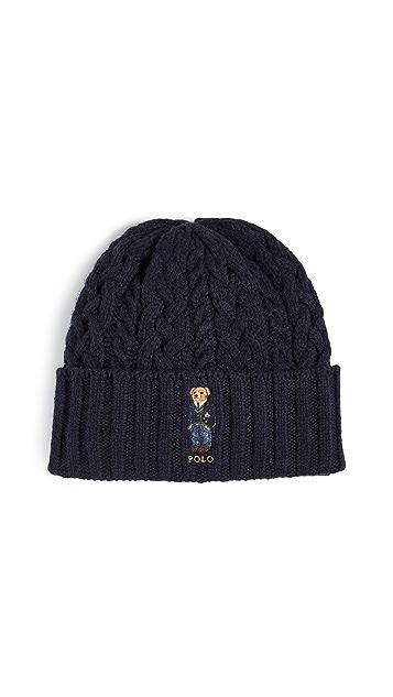Polo Ralph Lauren Aran St Andrew Bear Cuff Hat