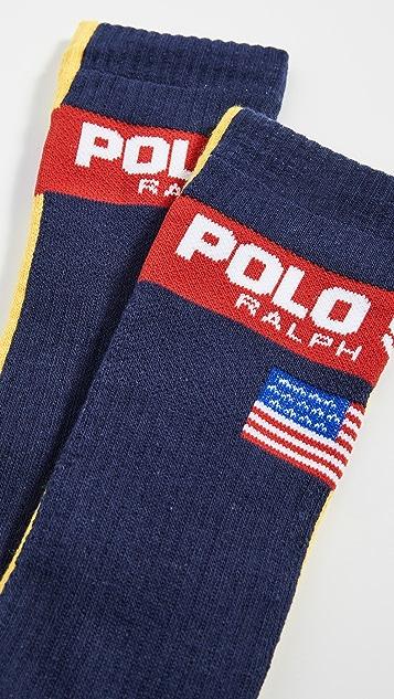 Polo Ralph Lauren Multi Color Split Slack Socks