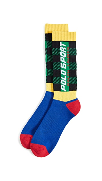 Polo Ralph Lauren Buffalo Plaid Combo Slack Socks