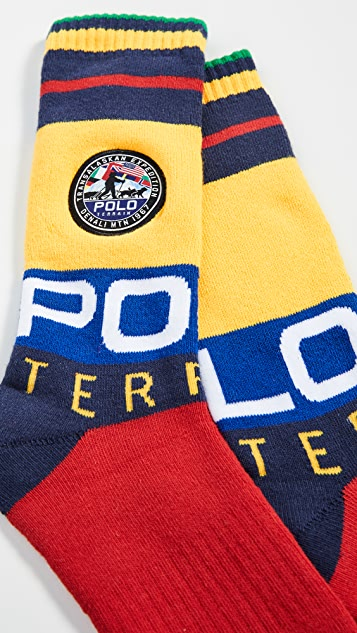 Polo Ralph Lauren Limited Edition: Terrain Patch Crew Socks