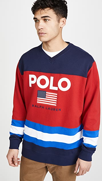 Polo Ralph Lauren Magic Fleece Active Crew Neck Sweatshirt