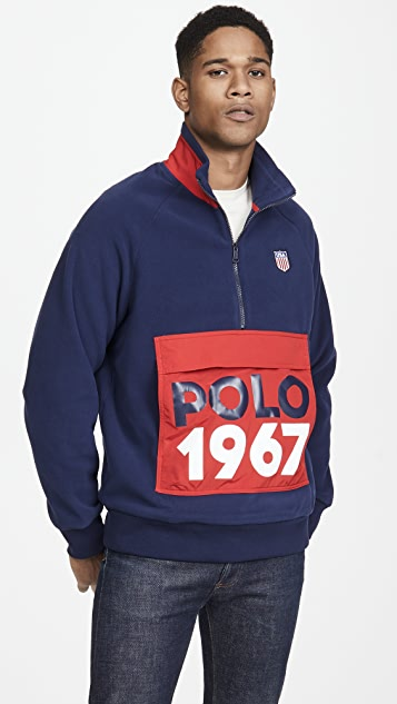 Polo Ralph Lauren Quarter Zip Logo Sweatshirt