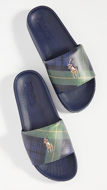 Polo Ralph Lauren Cayson Tartan Slides