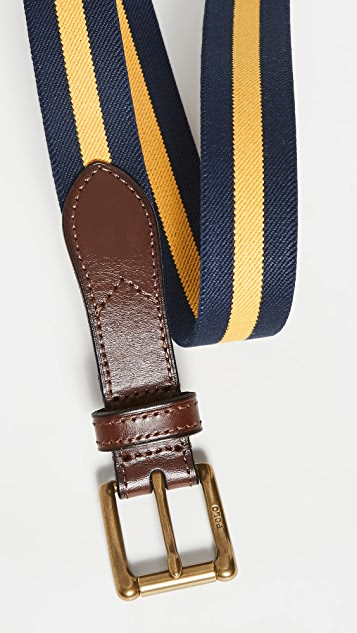 Polo Ralph Lauren Striped Print Stretch Belt
