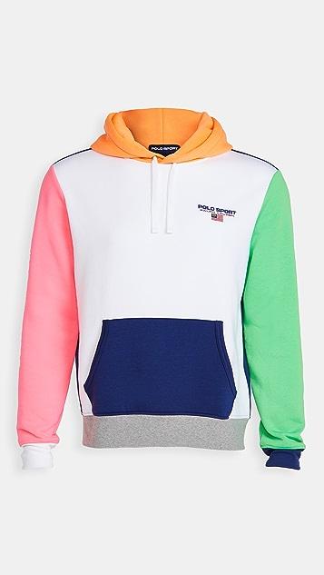 Polo Ralph Lauren Long Sleece Neon Fleece Hoodie