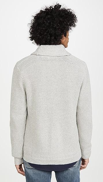 Polo Ralph Lauren Cotton Linen Shawl Collar Sweater