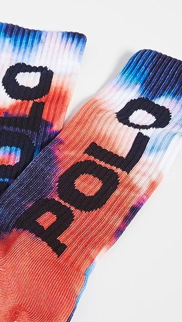 Polo Ralph Lauren Red White Blue Tie Dye Socks