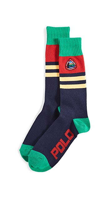 Polo Ralph Lauren Colorblock Crew Socks