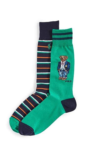 Polo Ralph Lauren Blazer Bear 2 Pack Socks