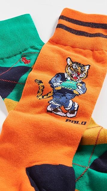 Polo Ralph Lauren Varsity Tiger 2 Pack Socks