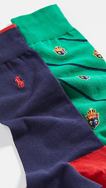 Polo Ralph Lauren Bias Crest 2 Pack Socks