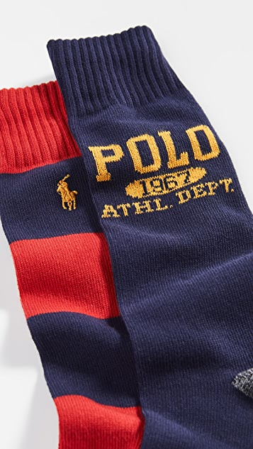 Polo Ralph Lauren Athletic 1967 2 Pack Socks