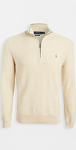 Polo Ralph Lauren - Pima Cotton Quarter Zip Sweater