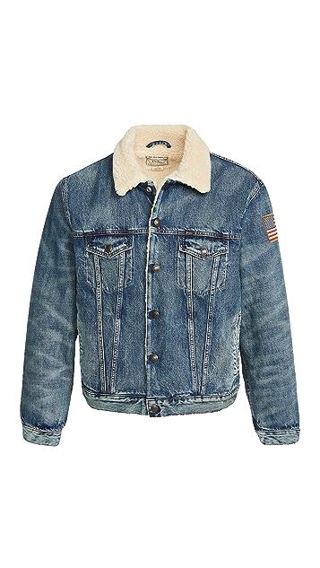 Polo Ralph Lauren Sherpa Lined Denim Trucker Jacket
