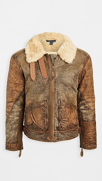 Polo Ralph Lauren Icelandic Shearling Bomber Jacket