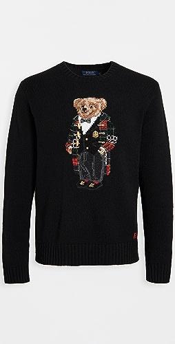 Polo Ralph Lauren - Wool Holiday Bear Crew Neck Sweater