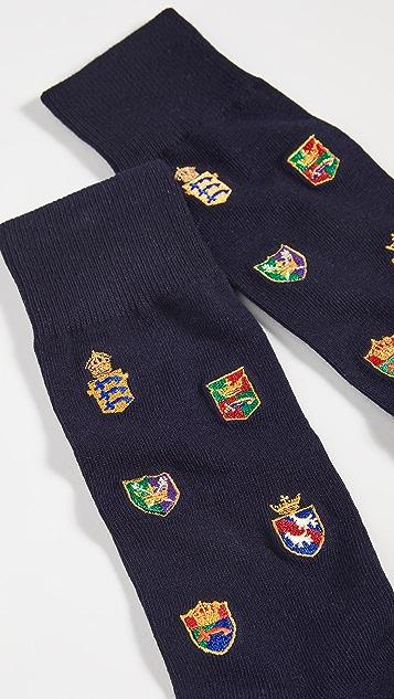 Polo Ralph Lauren Allover Crest Embroidery Socks