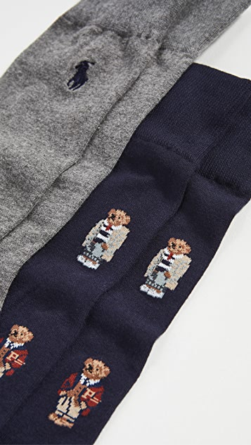 Polo Ralph Lauren Preppy Bear Quad Socks