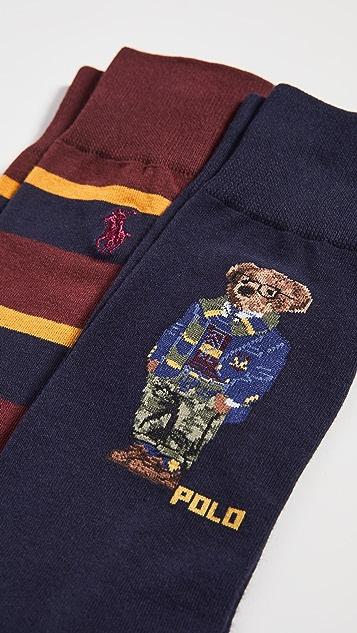 Polo Ralph Lauren Camo Collegiate Bear Slack Socks