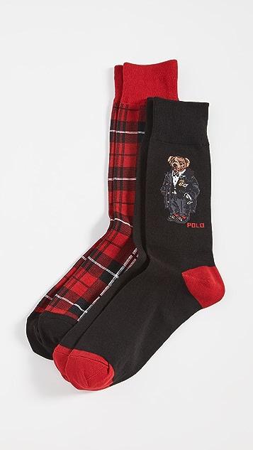 Polo Ralph Lauren Tuxedo Bear Socks