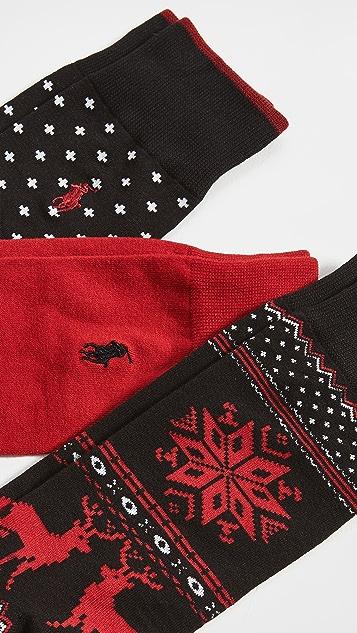Polo Ralph Lauren Holiday Fairisle 3 Pair Gift Box