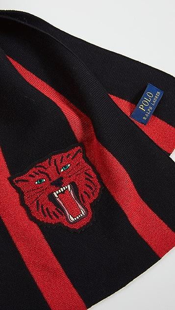 Polo Ralph Lauren University Stripe Knit Scarf