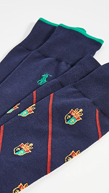 Polo Ralph Lauren Bias Crest 2 Pack Socks