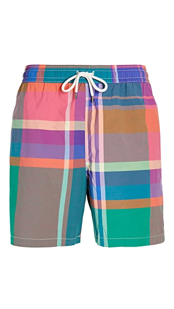 Polo Ralph Lauren Oversized Madras Swim Trunks