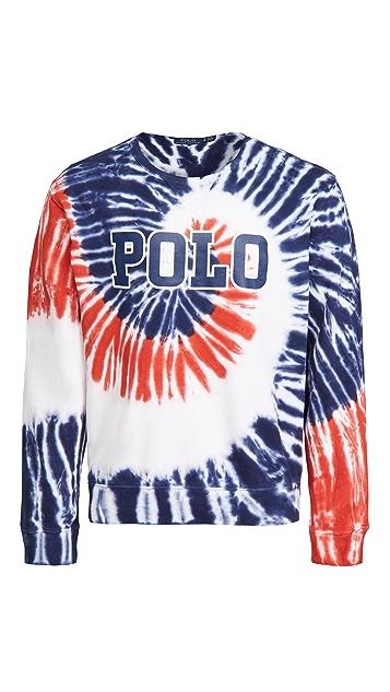Polo Ralph Lauren Americana Tie Dye Crew Neck Sweatshirt