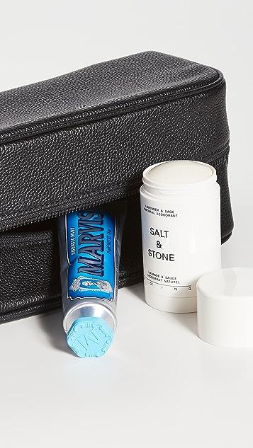 Polo Ralph Lauren Pebbled Leather Toiletries Bag