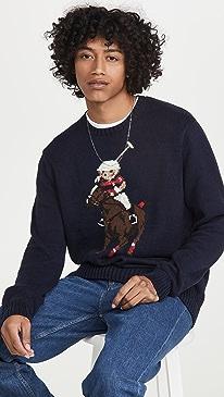 폴로 랄프로렌 폴로 베어 스웨터 Polo Ralph Lauren Riding Polo Bear Sweater,Navy