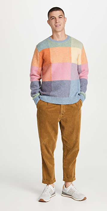 Polo Ralph Lauren Wool Patchwork Fun Sweater