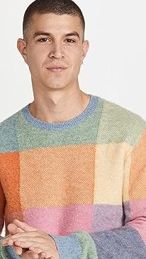 폴로 랄프로렌 스웨터 Polo Ralph Lauren Wool Patchwork Fun Sweater,Multi