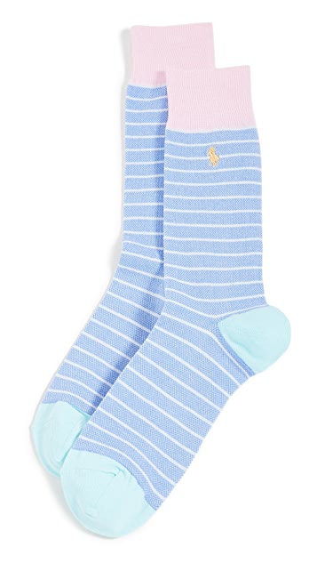 Polo Ralph Lauren Oxford Stripe Slack Socks