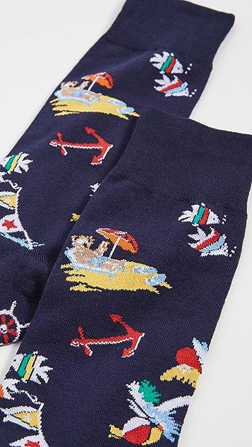 Polo Ralph Lauren Bearwaiian Slack Socks