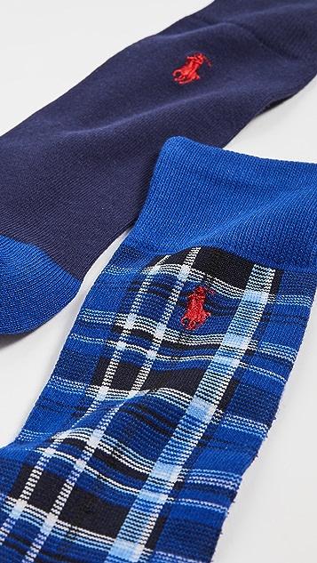Polo Ralph Lauren Plaid Slack Socks 2 Pack