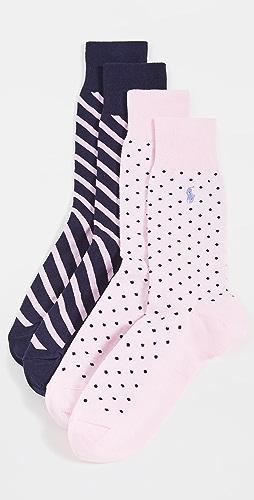 Polo Ralph Lauren - Dot Slack Socks 2 Pack
