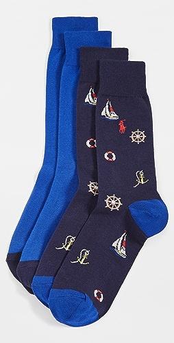 Polo Ralph Lauren - Nautical Slack Socks 2 Pack