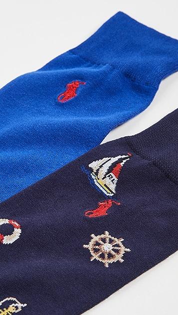 Polo Ralph Lauren Nautical Slack Socks 2 Pack