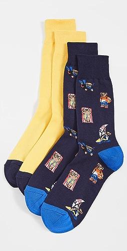 Polo Ralph Lauren - Beach Bear Slack Socks 2 Pack