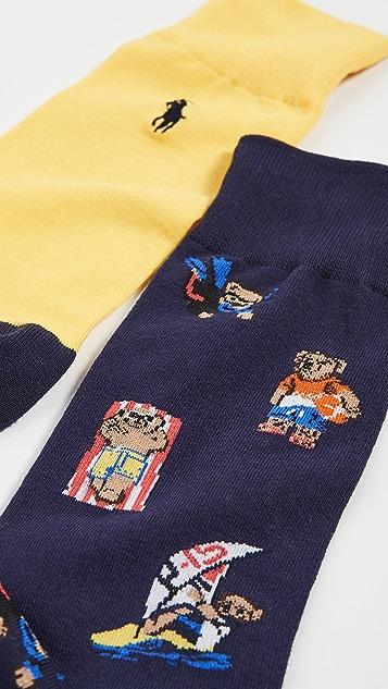 Polo Ralph Lauren Beach Bear Slack Socks 2 Pack