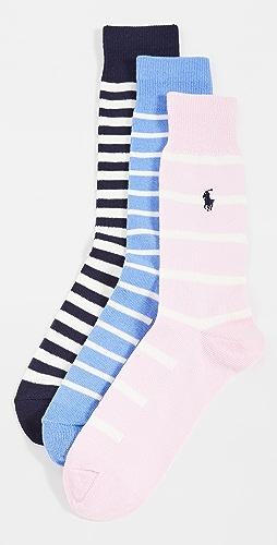 Polo Ralph Lauren - Pastel Stripes Socks 3 Pack
