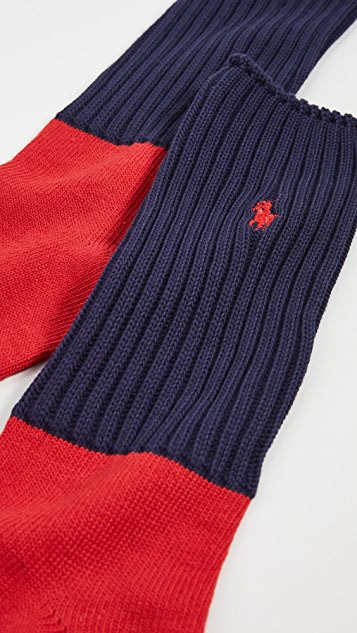 Polo Ralph Lauren Colorblock Slouchy Crew Socks